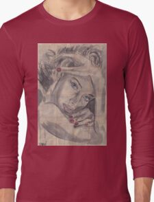 """Ink painting """"Nelle""""  Long Sleeve T-Shirt"""