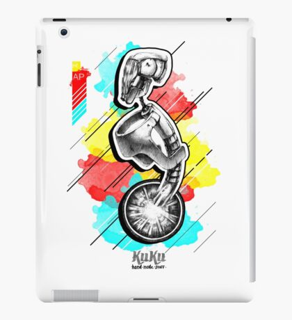 Futuristic cyborg without mouth and nose  iPad Case/Skin