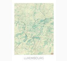 Luxembourg Map Blue Vintage Unisex T-Shirt