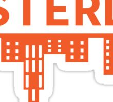 Amsterdam skyline orange Sticker