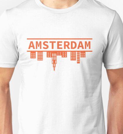 Amsterdam skyline orange Unisex T-Shirt