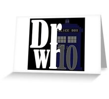 Doctor 10 Greeting Card
