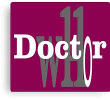 Dr.who Canvas Print