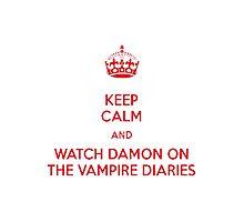 Damon ~~ VAmpire Diaries Photographic Print