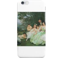John Henry Frederick Bacon -The Golden Butterfly - the Harvey family iPhone Case/Skin