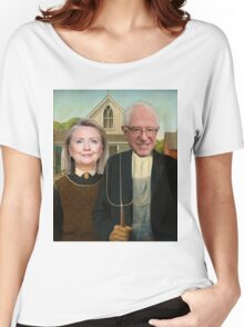 Hillary and Bernie Portrait  Women's Relaxed Fit T-Shirt