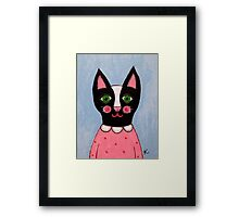 Black & White Cat Framed Print