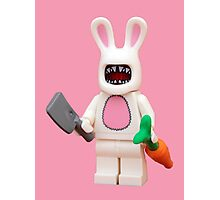Evil Easter Bunny Photographic Print