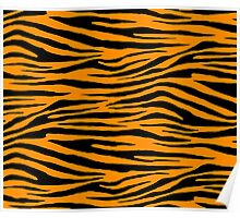 0184 Dark Orange Tiger Poster