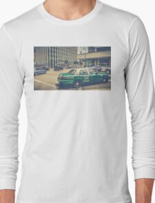 Beverly Hills - Taxi - Wilshire Boulevard Intersection II Long Sleeve T-Shirt