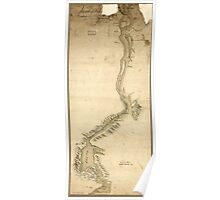 American Revolutionary War Era Maps 1750-1786 877 Sketch of St John's Harbour and part of the river Poster