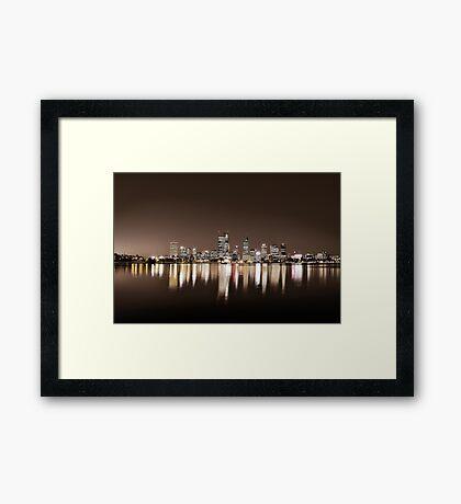 City of Perth Skyline Framed Print