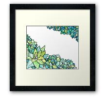 Watercolor succulents  Framed Print