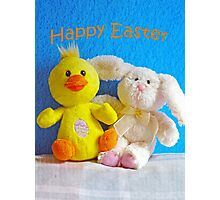 Happy Easter Chick & Bunny Photographic Print