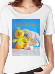 Happy Easter Chick & Bunny Women's Relaxed Fit T-Shirt