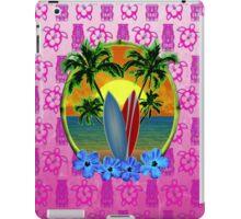 Pink Surfing Sunset Tiki iPad Case/Skin