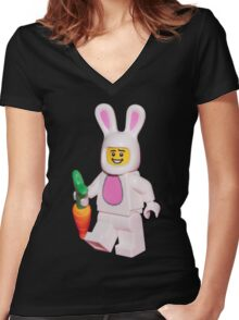 Nice Easter Bunny  Women's Fitted V-Neck T-Shirt