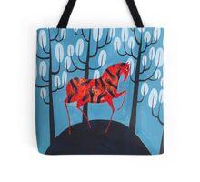 Smug red horse Tote Bag