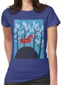 Smug red horse Womens Fitted T-Shirt