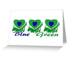 Blue Green Greeting Card