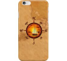 Compass Rose And Sunset iPhone Case/Skin