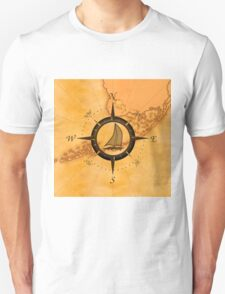 Florida Keys Map Compass T-Shirt