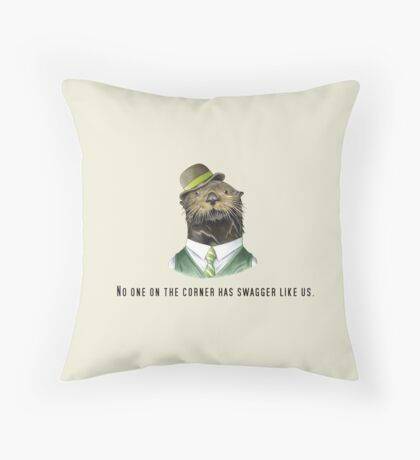 No one on the corner has swagger like us. Throw Pillow