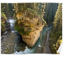 Morning in Johnston Canyon, Banff Poster
