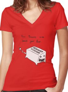 Toasters Can Smell Your Fear Women's Fitted V-Neck T-Shirt