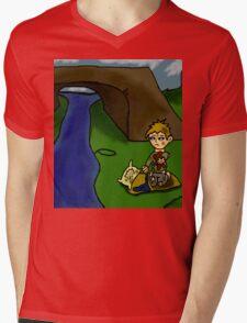 sad truth of children being homeless  Mens V-Neck T-Shirt