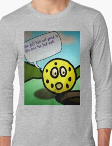 angry golf ball  Long Sleeve T-Shirt