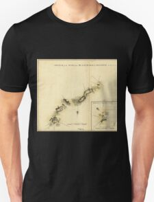 American Revolutionary War Era Maps 1750-1786 893 Sketch of the road from Black Horse to Crosswick Unisex T-Shirt
