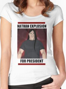 Nathan Explosion For President Women's Fitted Scoop T-Shirt