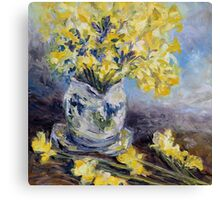 Suggestion of Daffodils Canvas Print