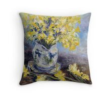 Suggestion of Daffodils Throw Pillow