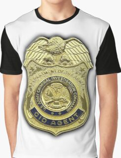 AMERICAN, US, USA, Army, Criminal Investigation Command, CID, Agent, Military Badge Graphic T-Shirt