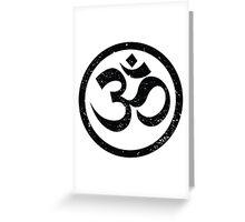 Vintage Yoga Ohm Symbol Greeting Card