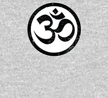 Vintage Yoga Ohm Symbol Womens Fitted T-Shirt