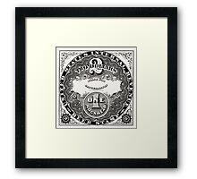 American Beer stamp - vintage Framed Print