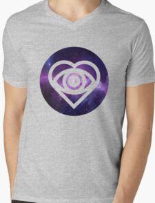 All Time Low Future Hearts Logo (Galaxy Print) Mens V-Neck T-Shirt