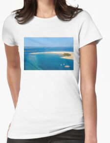 Isolated dream resort in the Maldives, Laccadivian Sea Womens Fitted T-Shirt