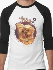 Trufa the Yorkie Men's Baseball ¾ T-Shirt