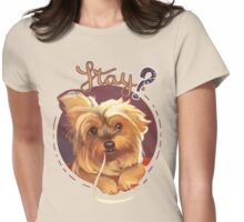 Trufa the Yorkie Womens Fitted T-Shirt