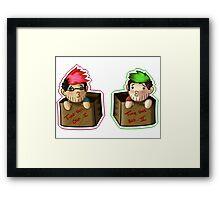 Septiplier-in-a-box Fan Items 3! Framed Print