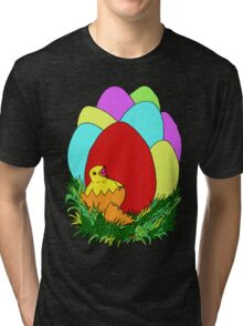 Eggs and Chick Tri-blend T-Shirt