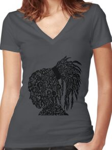 Rastanation Women's Fitted V-Neck T-Shirt