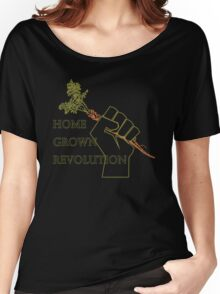 Home Grown revolution Fist of Solidarity  Women's Relaxed Fit T-Shirt