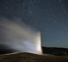 Evening with Old Faithful by Charlene Aycock