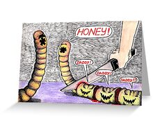 worm family Greeting Card