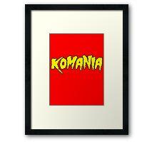 KO-Mania Yellow on Red Framed Print